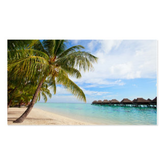Exotic resort Double-Sided standard business cards (Pack of 100)