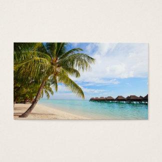 Exotic resort business card