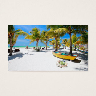 Exotic resort business card