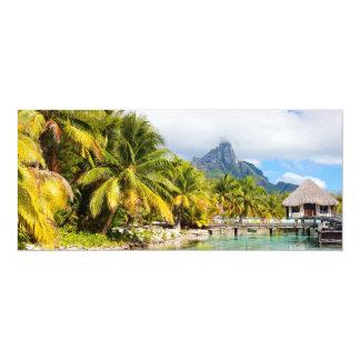 Exotic resort card