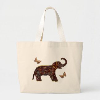 Exotic Rose Elephant Tote Bag