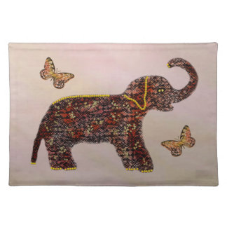 Exotic Rose Elephant Butterfly Placemats