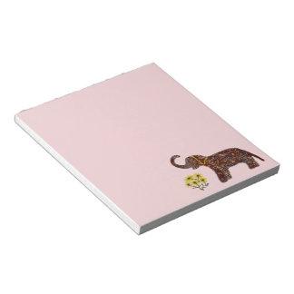 Exotic Rose Elephant Notepads