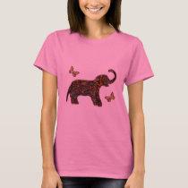 Exotic Rose Elephant T-Shirt