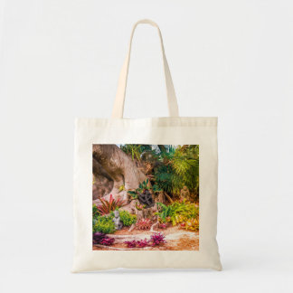 Exotic Scenic Garden with Banyan Tree Tote Bag