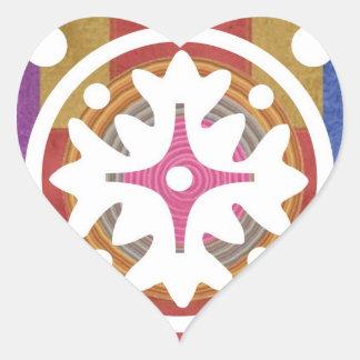 EXOTIC Sea Shells n Motifs Heart Sticker