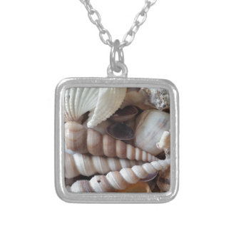Exotic Seashells Collection, Summer Beach Silver Plated Necklace