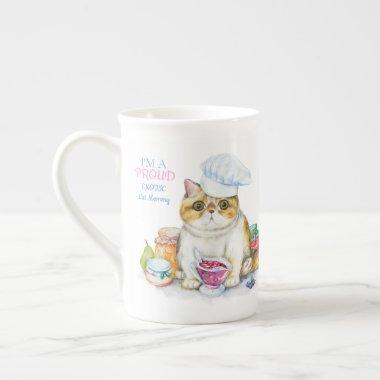 Exotic Shorthair Cat Mom Bone China Personalized Bone China Mug