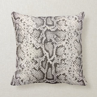 Exotic Snakeskin Pattern   white Throw Pillow