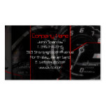 Exotic speedometer panel fragment business card template