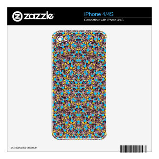 Exotic Stylized Nature Pattern Skin For iPhone 4S