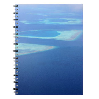 Exotic Sunny Maldives Islands Ocean Aerial View Notebook