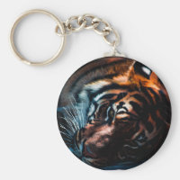 Exotic Tiger Keychain