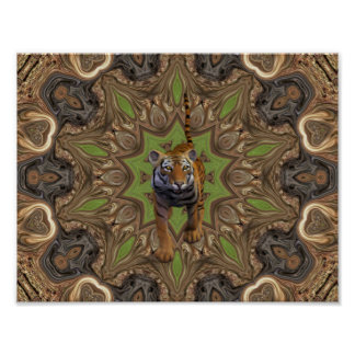 Exotic tiger wall poster. poster