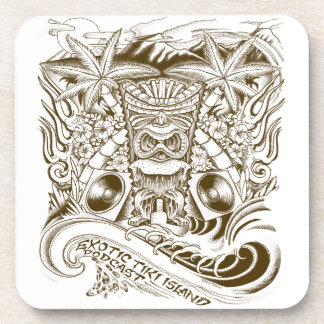 Exotic Tiki Island Podcast Drink Coasters