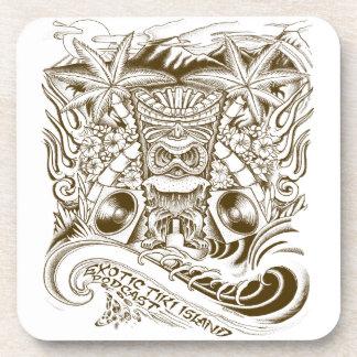 Exotic Tiki Island Podcast Drink Coasters