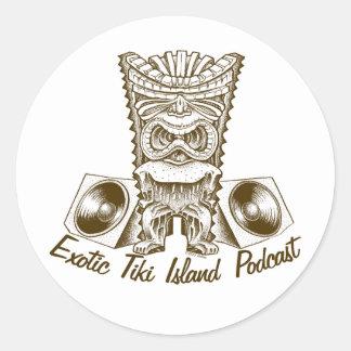 Exotic Tiki Island Podcast Stickers