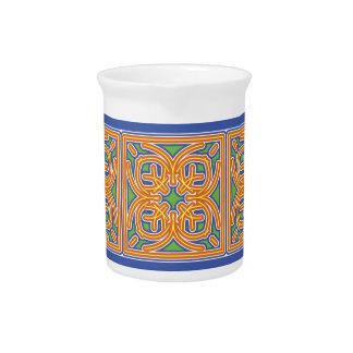 Exotic Tile Drink Pitcher
