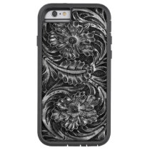 Exotic Tooled Leather Look   charcoal Tough Xtreme iPhone 6 Case