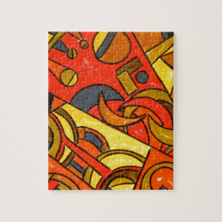 Exotic Train Trip - Abstract Art Jigsaw Puzzle