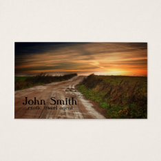 Exotic Travel Agent Business Card at Zazzle