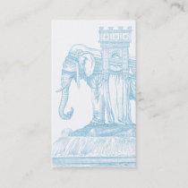 Exotic Traveling Caravan Elephant Business Card