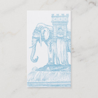 Exotic Traveling Caravan Elephant Business Card