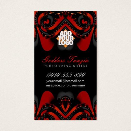 Exotic Tribal Goddess Red Black Business Card