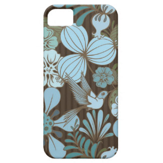 Exotic tropical bird and flowers iPhone SE/5/5s case
