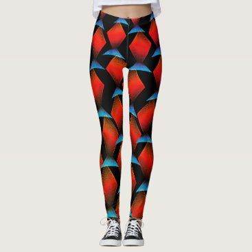 Beach Themed Exotic Tropical Fish Pattern Leggings
