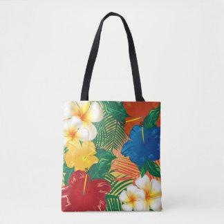 Exotic Tropical Flower Design Tote Bag