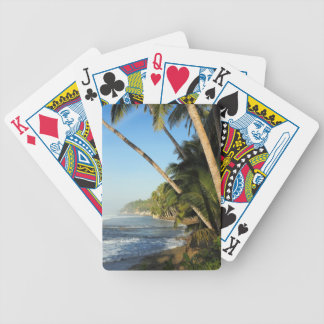 Exotic tropical island bicycle playing cards