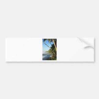 Exotic tropical island bumper sticker