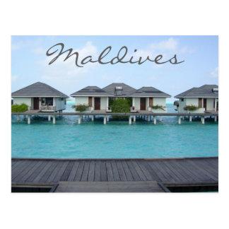 Exotic Tropical Island Maldives Beach Bungalow Postcard