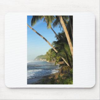 Exotic tropical island mouse pad