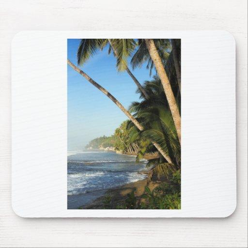 Exotic tropical island mousepad