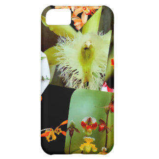 Exotic Tropical Orchids Collage Design Photo iPhone 5C Covers