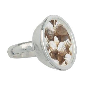 Exotic Tropical Ring Sea Shells Summer Beach Love