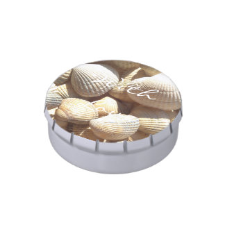 Exotic Tropical Sea Shell Summer Beach Photography Candy Tins