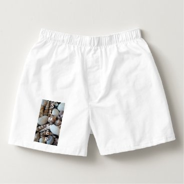 Beach Themed Exotic Tropical Summer Sea Shells Photography Boxers