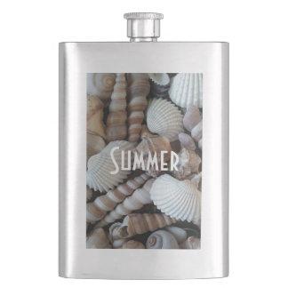 Exotic Tropical Summer Sea Shells Photography Flask