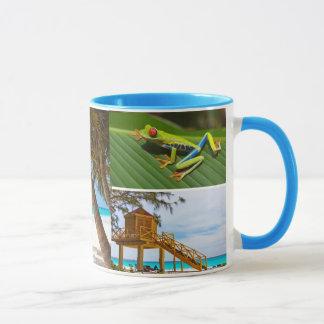 Exotic Vacation Photo Collage Coffee Mug