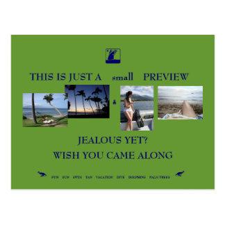 exotic vacation postcard
