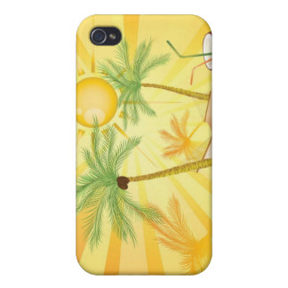 Exotic-Vector-Graphics TROPICAL SUMMER PALM TREES iPhone 4/4S Cases