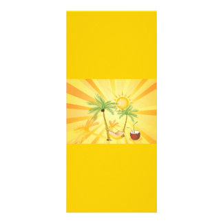 Exotic-Vector-Graphics TROPICAL SUMMER PALM TREES Customized Rack Card
