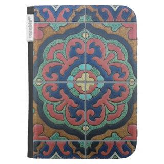 Exotic Vintage Tile Design Kindle Covers