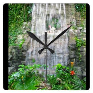 EXOTIC WATERFALL clock