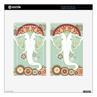 Exotic White Elephant Decals For Kindle Fire