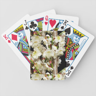 Exotic White Flower Bunch by Branch Romance Gifts Bicycle Playing Cards