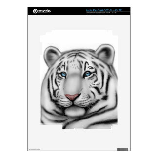 Exotic White Tiger Zazzle Skin iPad 3 Decals
